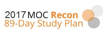2016 MOC Recon 89-Day Study Plan