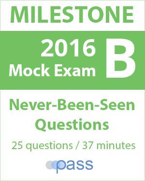 2016 Milestone Exam B