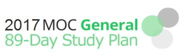 2017 MOC General 89-Day Study Plan